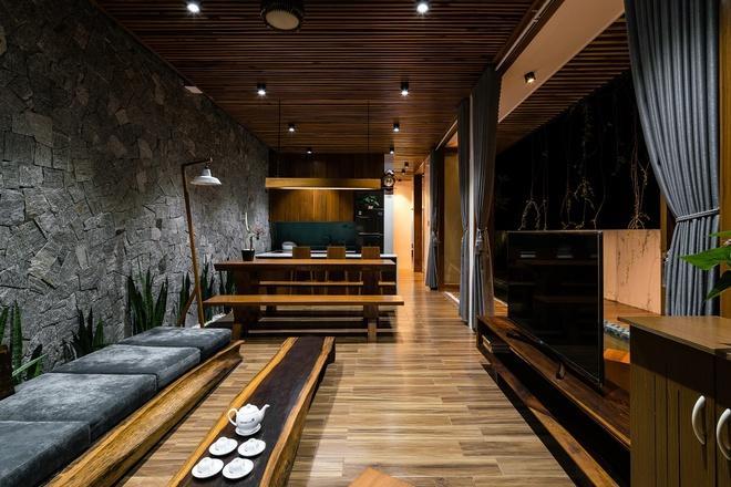 phòng khách ngôi nhà tại Quảng Nam