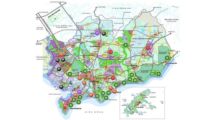 Bản đồ kêu gọi đầu tư bất động sản tại Phú Mỹ
