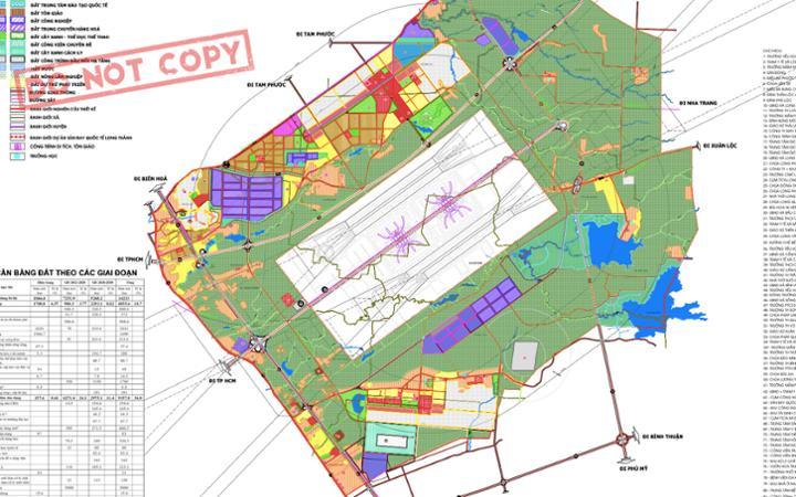 Bản đồ sân bay Long Thành